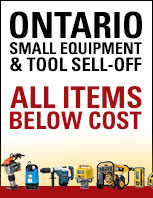 Small Equipment Tool Sell Off Promo