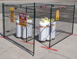 Propane Storage Compounds & Lifting Cages Rental